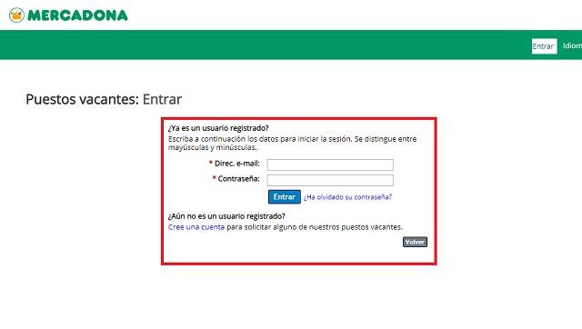 Paso 4 login de usuario mercadona empleo