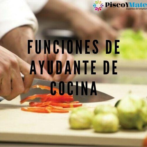 funciones de ayudante de cocina