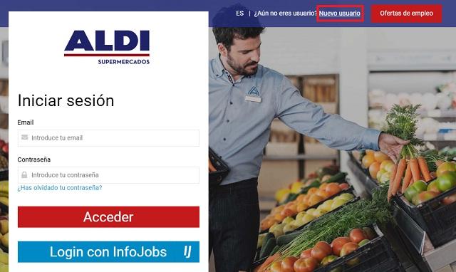 Paso 1 ofertas de empleo en Aldi