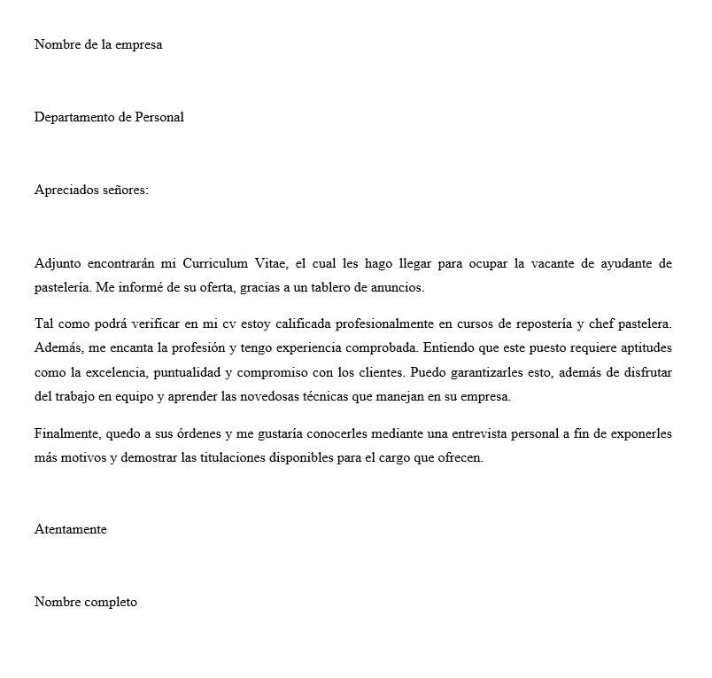 Carta De Presentación Corta Ejemplo Y Modelo Para Descargar